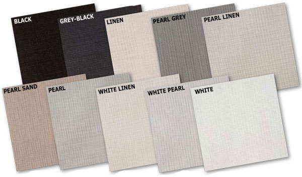 sun screen panel track colors