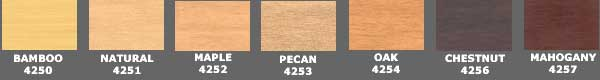 premium faux wood blind colors
