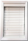 """White 2"""" Faux Wood Blinds"""