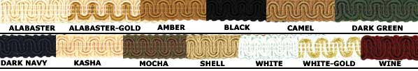 roller shade trim colors