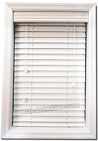 "White 2"" Faux Wood Blinds"