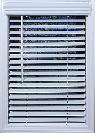 Cordless 2 Inch Faux Wood Blinds.Cordless White 2 Faux Wood Blinds