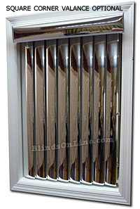 Mirror Vertical Blinds Gold Silver