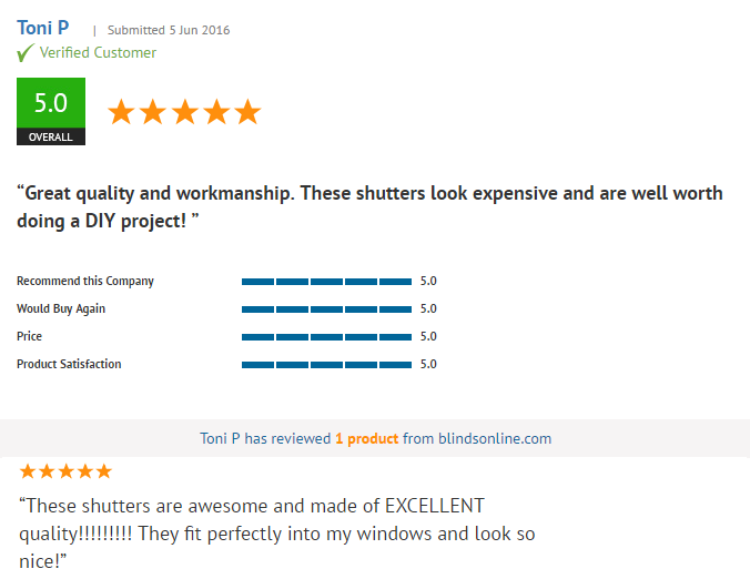 plantation shutter review