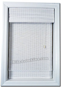 White Woven Wood Shades W Valance
