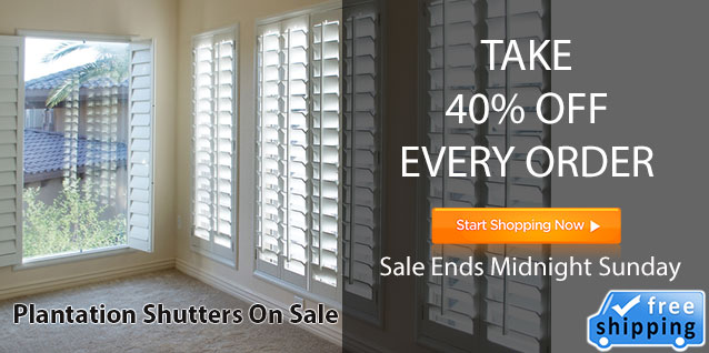 plantation shutters on sale